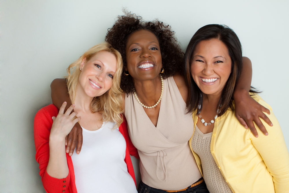 women smiling, cosmetic dentist weston