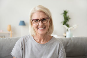 woman with Wellesley Dental Crown