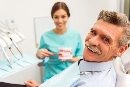 Dentures weston with patient